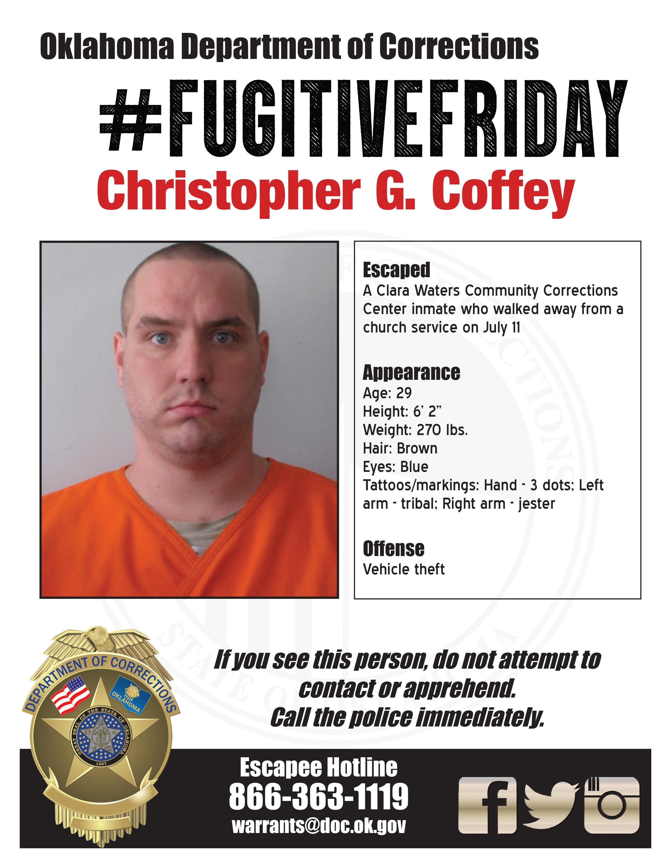 Christopher Coffey walkaway