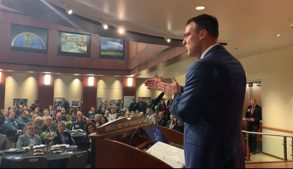Gov Stitt speaks during 2020 Public Safety Forum