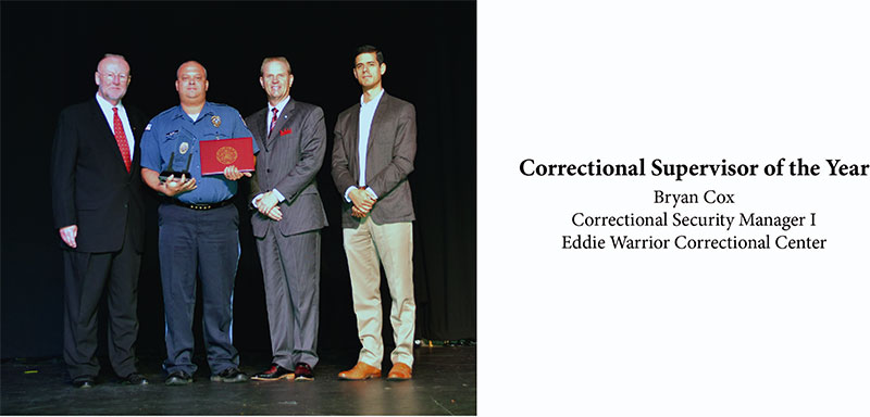Correctional Supervisor of the Year - Bryan Cox