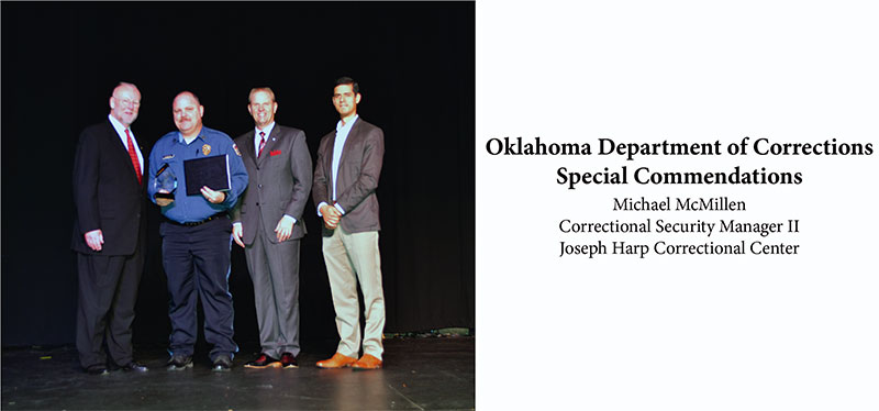 Oklahoma Department of Corrections Special Commendations - Mike McMillen