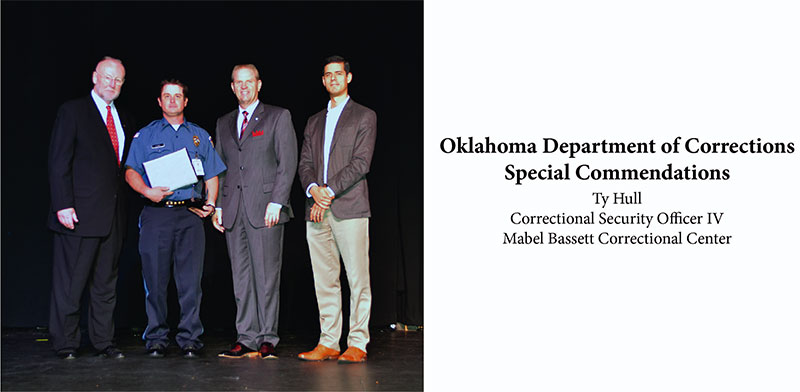 Oklahoma Department of Corrections Special Commendations - Ty Hull