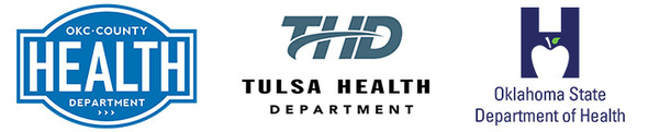 Oklahoma City-County Health Department Logo, Tulsa County Logo, Oklahoma State Department of Health Logo