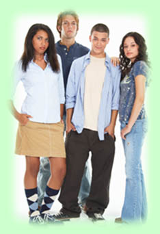 group of adolescents standing
