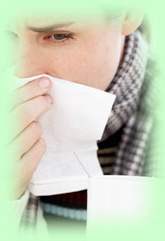 Woman using a tissue sick