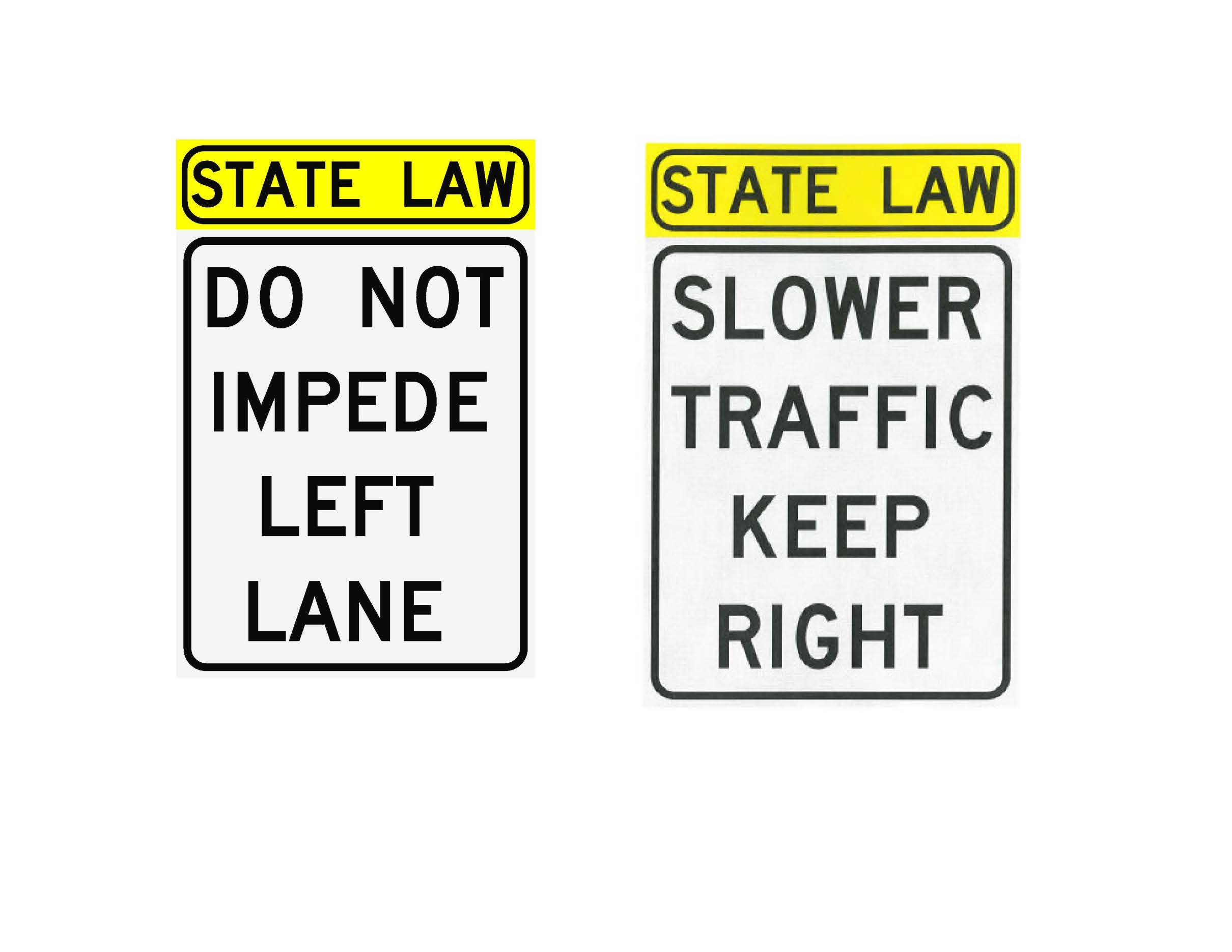 New interstate traffic signs
