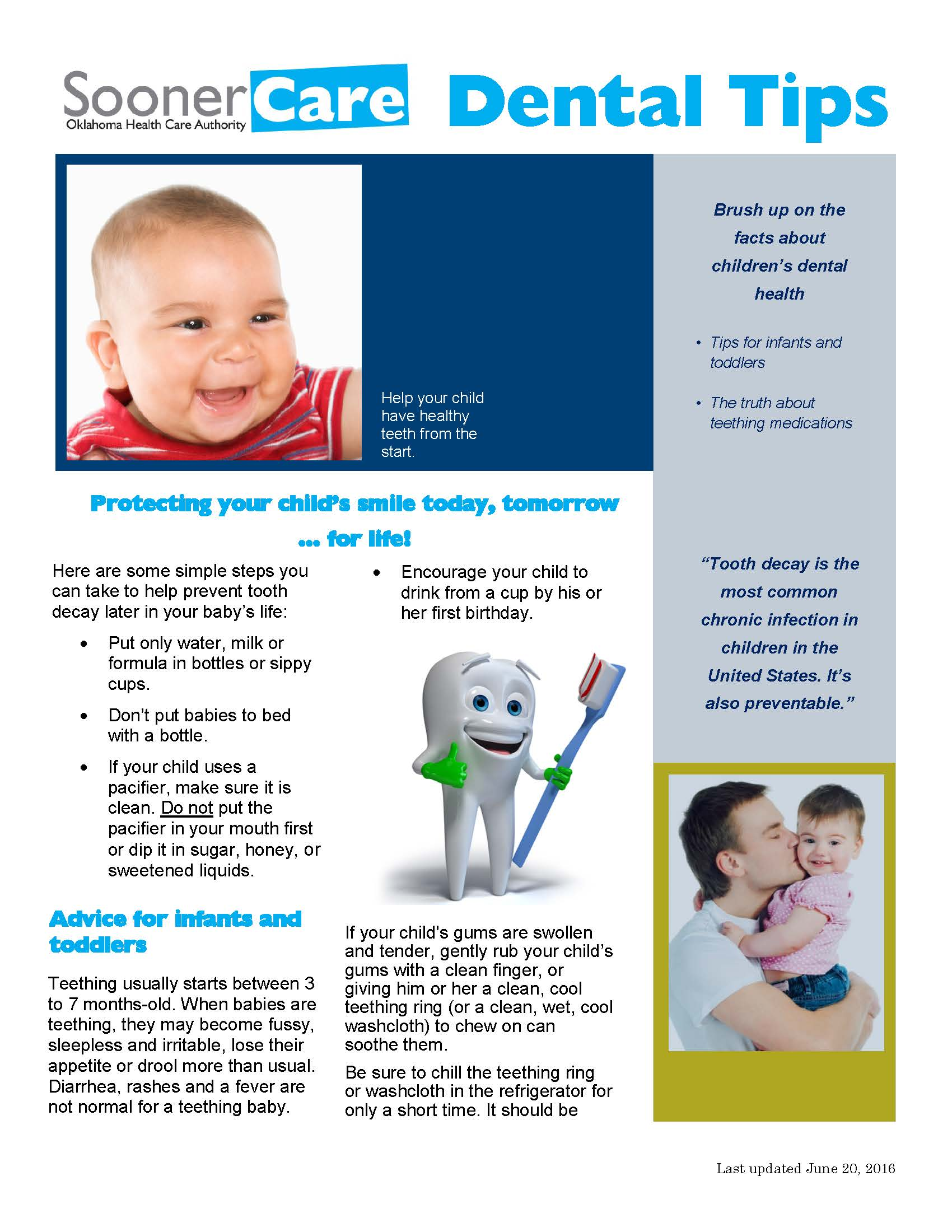 Dental Tips 1_Infants and Toddlers_20June16_Page_1