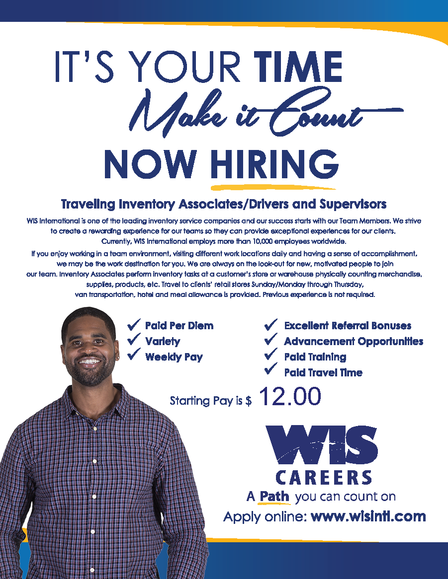 WIS Hiring Traveling Inventory Associates